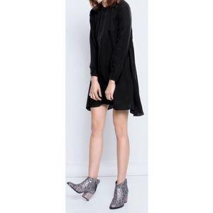 ZADIG & VOLTAIRE RUSH DELUXE BLACK SILK DRESS XS